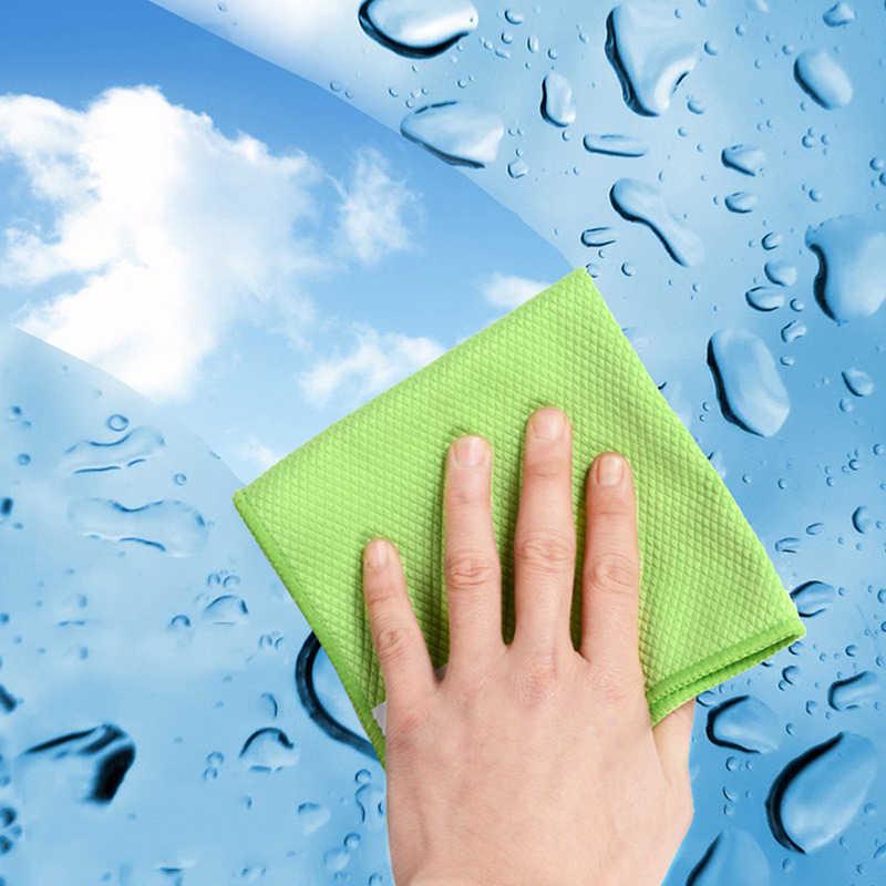 3 ชิ้น/แพ็คจาน Rags ผ้าห้องครัว Washcloths ไมโครไฟเบอร์ทำความสะอาดผ้า Lint ฟรี STREAK ฟรีทำความสะอาด Windows กระจก
