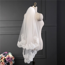 Veil EE65 Comb Short Lace Wedding-Accessories T-Bridal White/ivory with Edge Hot-Sell