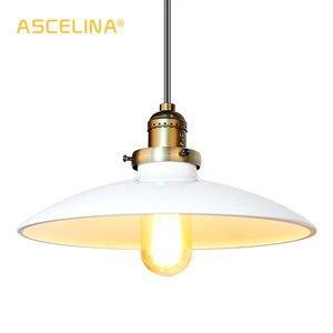 Image 5 - Loft Vintage Lampada A Sospensione Dia 250 millimetri E27 di Alluminio, Metallo, Ferro Retro Nord Europa Stile Industriale Edison Lampade a sospensione