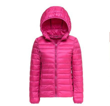 Women Ultra Light Down Jacket Hoodie Winter Coat Women Portable Parka Jackets Customized Casaco De Inverno Parkas Mujer
