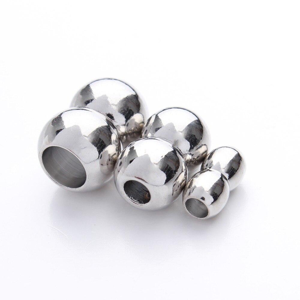 10 шт./лот отверстие 3/4/5/7 мм круглые магнитные застежки для Браслеты F841A