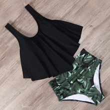 RXRXCOCO High Waist Bikini Push Up Swimwear Women Swimsuit Plus Size Bikini Set 2020 Ruffle Tankini Two Piece Halter Swim Wear plus size print ruffle bikini set