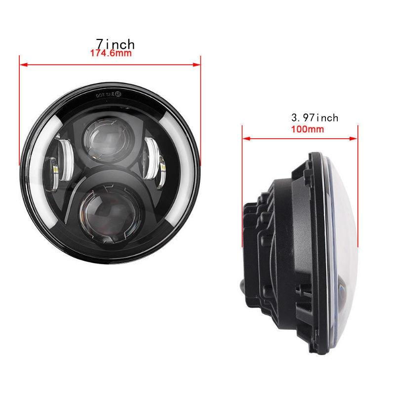 7inch led headlamp9800