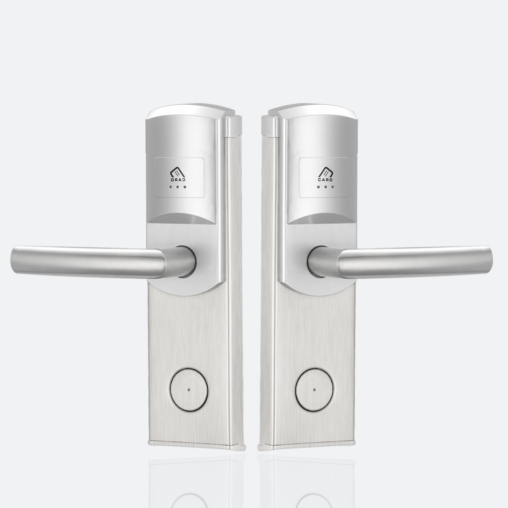 Stainless Steel Electronic Rfid Card Hotel Card Door Lock Digital Door Locks For Economic Hotel high class digital electronic rfid card hotel door handle locks with master card key options et820rf