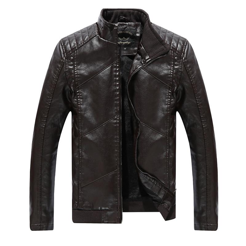 Ardhja e re 2016 Vjeshtë dhe dimër në modë PU xhaketë lëkure PU - Veshje për meshkuj - Foto 4