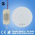 3 W 5 W 7 W 9 W 12 W 15 W 18 W 24 W SMD5730 Light-emitting chip de diodo + reservatório de plástico fonte de alimentação LED driver para teto LEVOU luz