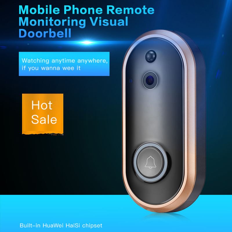 Multifunctional 1080P IR Home WiFi Wireless Video Doorbell Intercom System HD 720P/1080P Waterproof Two Way Audio Doorbell