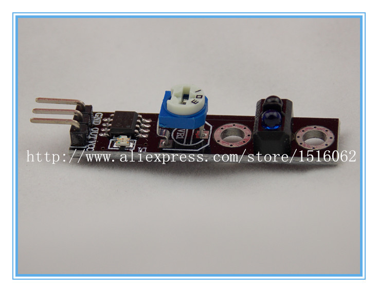 10PCS  channel tracing module/ Intelligent Vehicle tracking probe infrared /black white line detection sensor for arduino