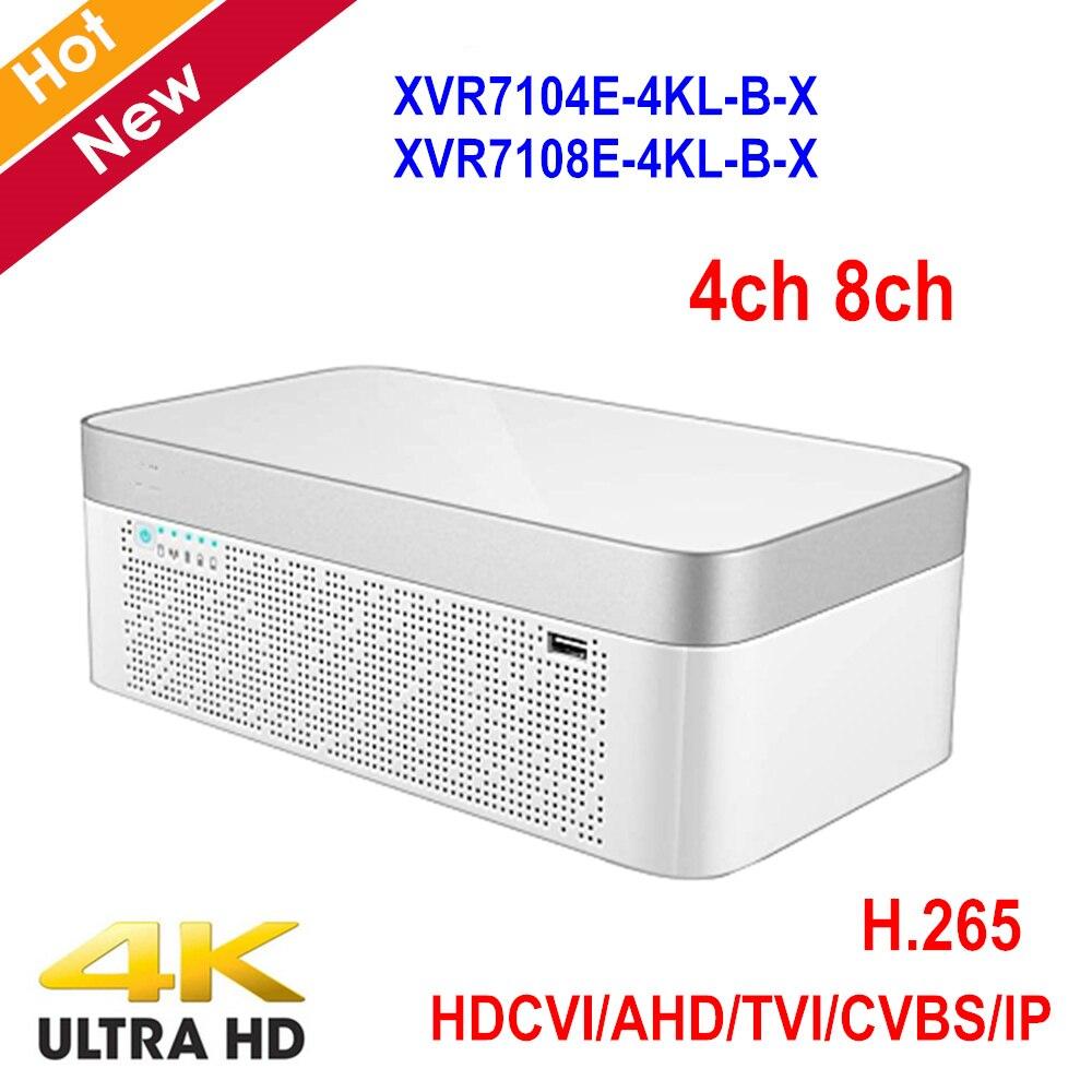 Newest 4k XVR 4 Channel 8 Channel XVR7104E-4KL-B-X XVR7108E-4KL-B-X 4K Elegant 1U Digital Video Recorder H.265 Support IoT POS бодибар aerofit b bb 4k 4кг