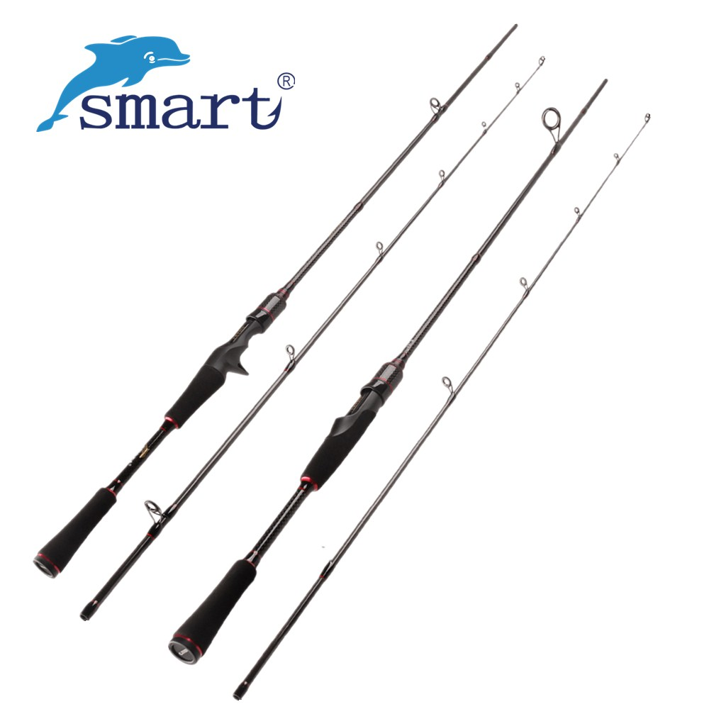 Smart 1.8m 2.1m Spinning/Casting Fishing Rod 2 Section M Power Lure Weight 7-25g Carbon Fiber Lure Rod for Carp Fishing Pesca ecooda spinning casting fishing rod 50 200g lure weight portable super light carbon fiber fishing rod