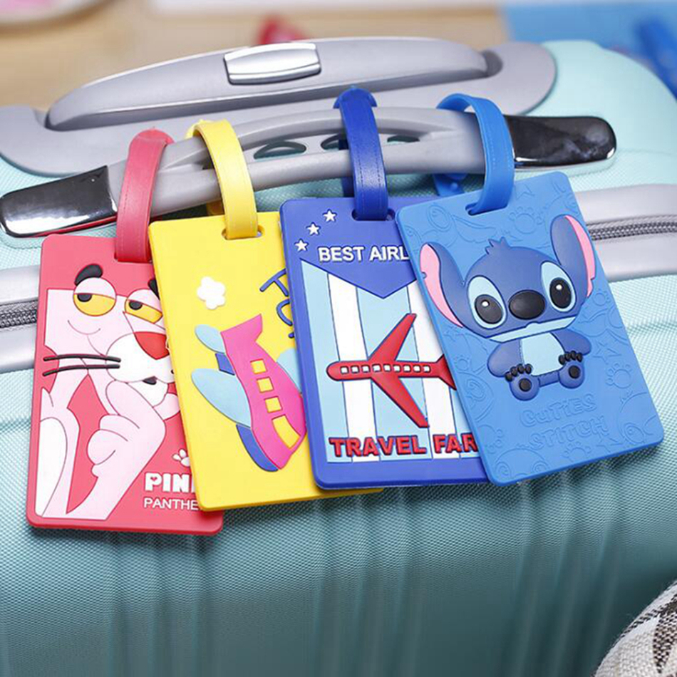 Fashion Cartoon Luggage Tag Women Travel Accessories Silica Gel Suitcase ID Address Holder Baggage Boarding Tag Portable Label
