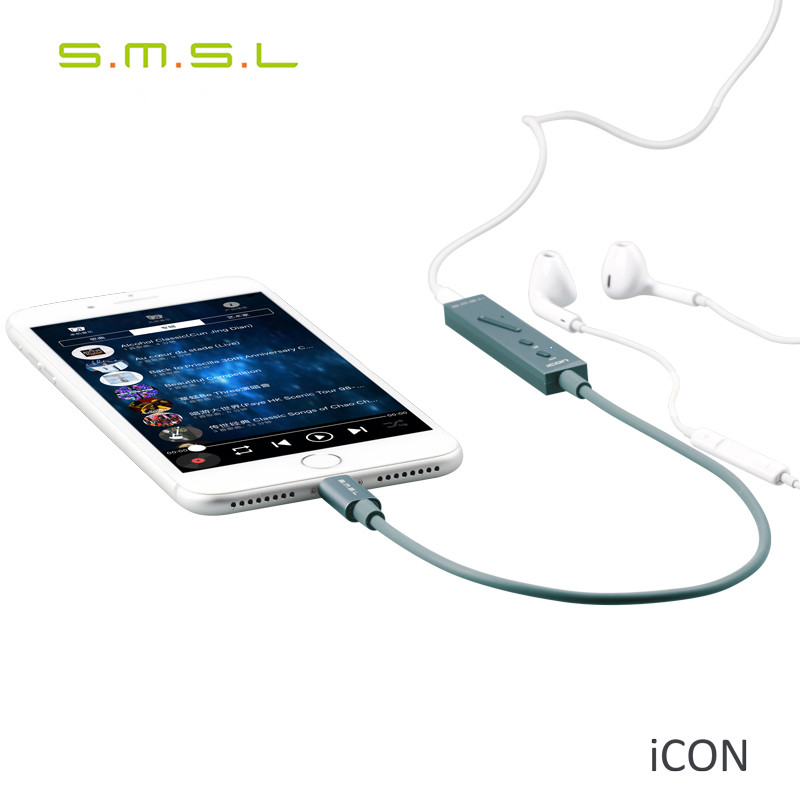 SMSL ICON HIFI Audio Lighting Decoder DAC AMP Built-in Microphone Portable Headphone Amplifier for Apple IOS Support iPhpne 7