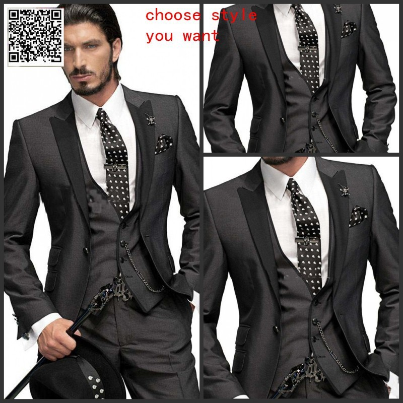 Us 93 99 Custom Made Top Quality Silver Suits Formal Groom Tuxedo For 4 Pieces Business Suits Western Wedding Suit Coat Pants Vest Tie In Suits From