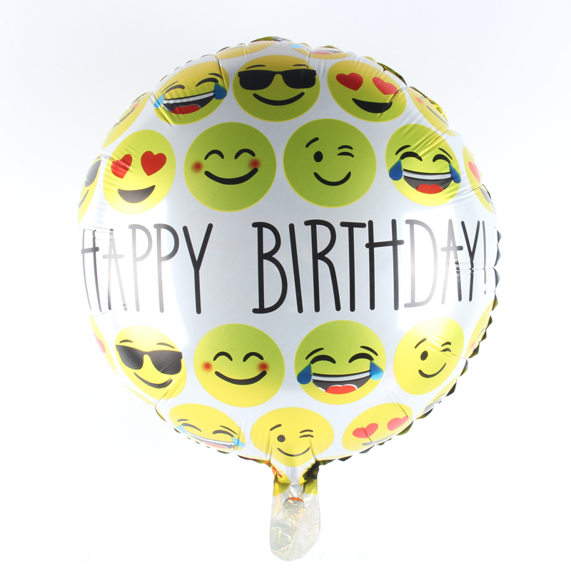 18inch Happy Birthday Balloon Aluminum Foil Balloons Party Decoration Balloon Ce