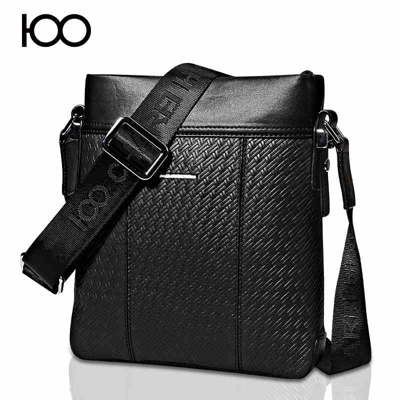 100 brand woven pattern men messneger bags crocodile pattern genuine cow leather shoulder Messenger bag for mens