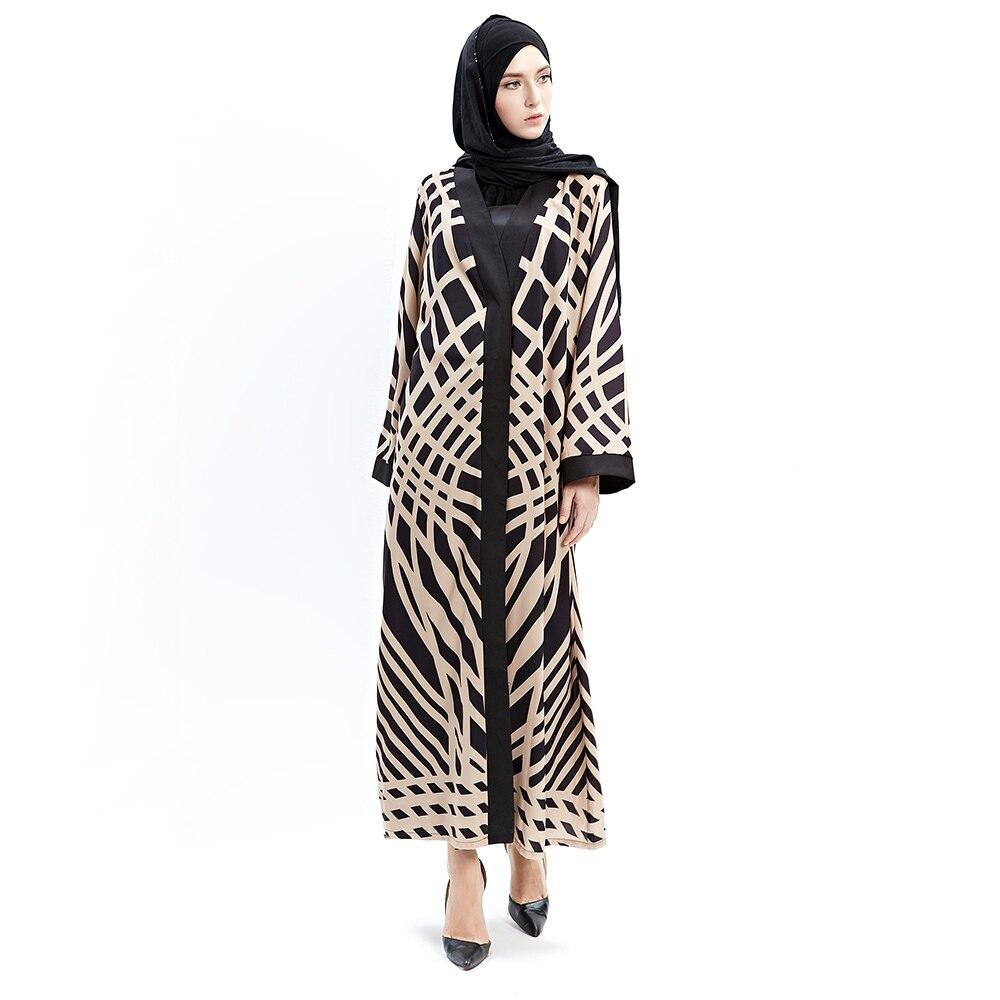 Adult Cotton Chiffon Print Long Flare Sleeve Malaysia Muslim Abaya ...
