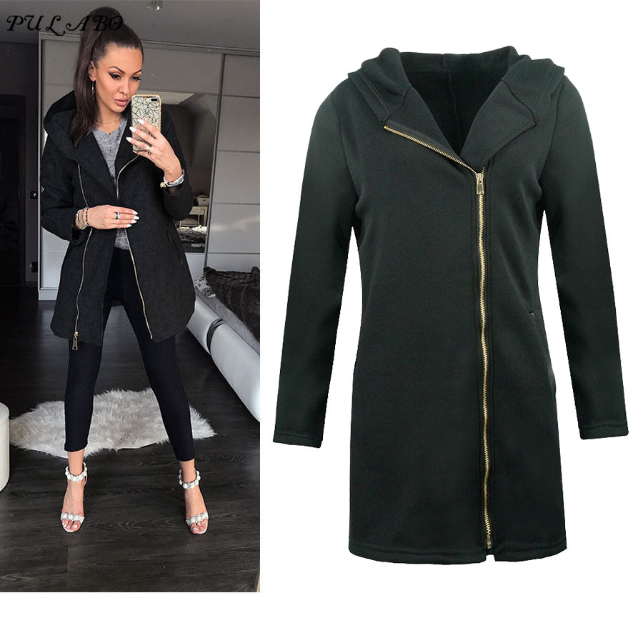 Women   Basic     Jackets   2019 Autumn Winter Women's Overcoat Zipper Causal Outwear Female Coat Casaco Feminino Ladies   Jacket