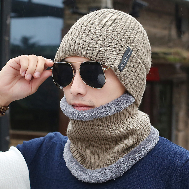 oZyc Winter   Beanies   Men Scarf Knitted Hat Caps Mask Gorras Bonnet Warm Baggy Winter Hats For Men Women   Skullies     Beanies   Hats