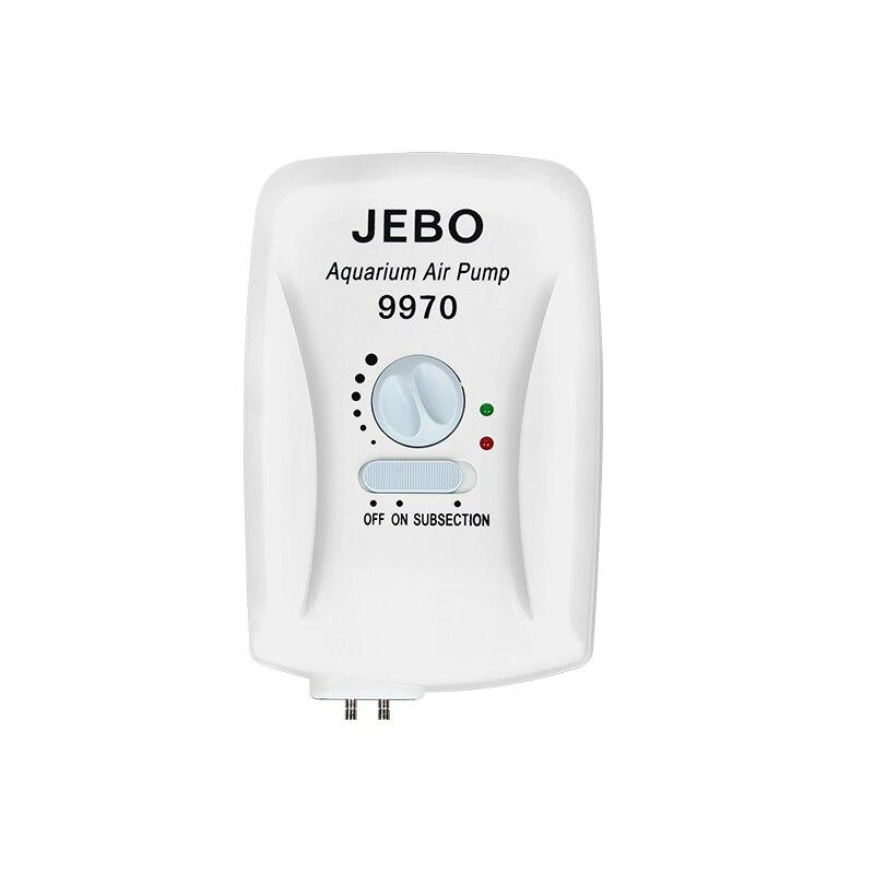 JEBO 9970 3.5 W pompe à oxygène augmentant la pompe à oxygène d'aquarium réservoir de poissons Super silencieux pompe à Air d'aquarium réguler l'oxygène de contrôle