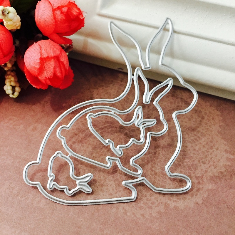 Easter Bunny cutting of new 2021 arrival card paper embossing scrapbooking craft diy photo album