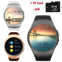 SunKinFon KW18+ Clock Smart Watch Android Health Tracker MTK2502C Bluetooth Notification Support SIM TF Card for Samsung Xiaomi