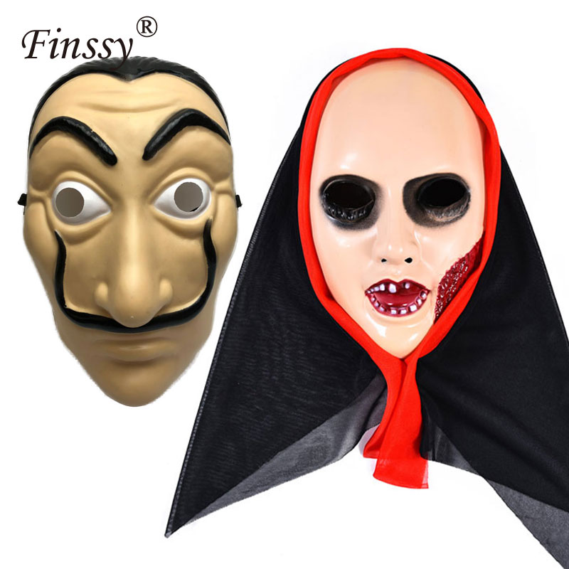 La Casa De Papel Mask for Men Women Money Heist The House of Paper PVC Party Mask Halloween Carnival Cosplay Mask