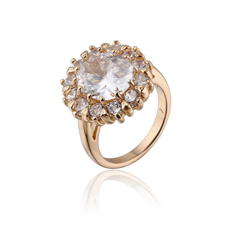 CZ Gold Color Wedding Rings for Women Bijoux Fashion Brand ...