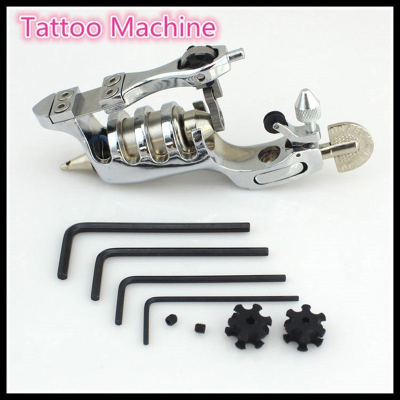 Wholesale Tattoo Kit 2 Gun Complete Machine Equipment +Teaching CD+Ink sets +Needles for Beginners Tools