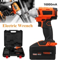 Newest 16000mA Brushless Cordless Electric Wrench Impact Socket Wrench Hand Drill Hammer Installation Power Tools Li Battery