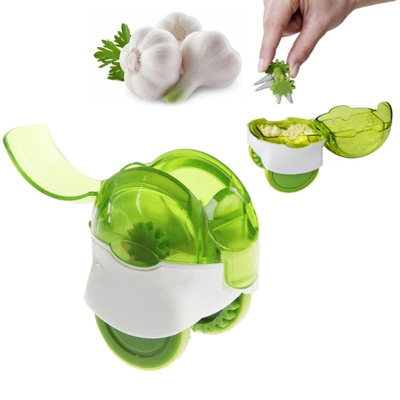Mini Garlic Chopper Grater Ginger Press Tool Plastic Kitchen Accessories