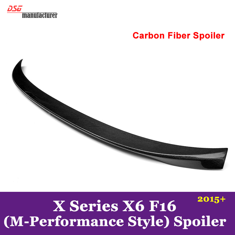 M-performance p style spoiler rear trunk wings for bmw x6 f16 2015 2016 xDrive35i xDrive50i model carbon fiber / FRP material цена 2017