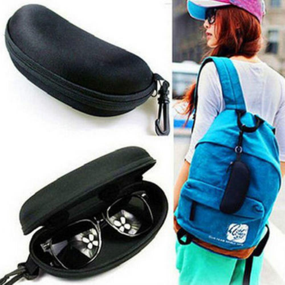 1Pc New Fashion Zipper Sunglasses Hard Case Eye Glasses Protector Portable Container Box