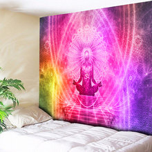 Ombre Psychedelic Wall Tapestry 3D Print Chakra Handing Tapestries Boho Hippie Cloth Bedding Home Decor Art