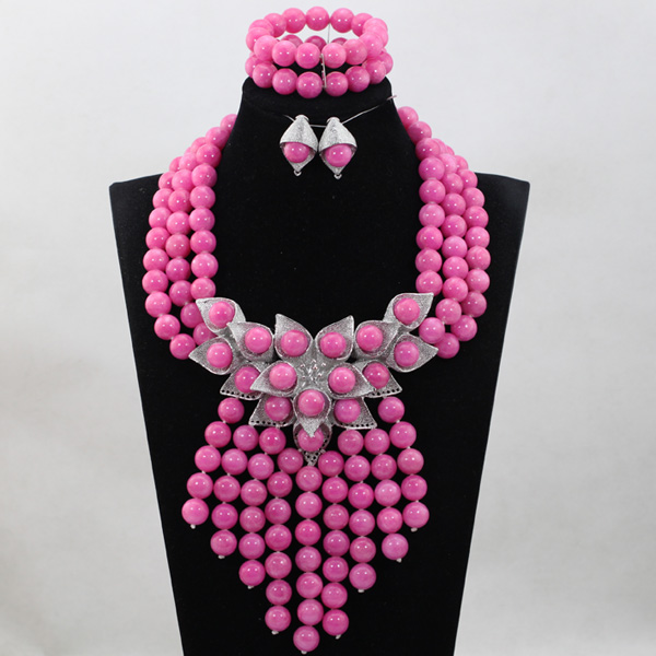 Cute Pink Coral Beads Jewelry sets 6 colors Nigerian African Wedding Bridal/Women Beads Necklace Jewelry Set Free Shipping CJ866Cute Pink Coral Beads Jewelry sets 6 colors Nigerian African Wedding Bridal/Women Beads Necklace Jewelry Set Free Shipping CJ866