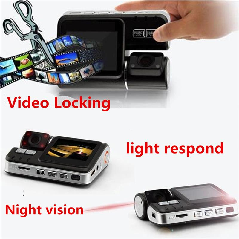 HD 1080P 2.0 Inch Car DVR Video Dash Camera Registrator With IR Night Vision DVR Video Recorder USB G-sensor 170 Degrees 2