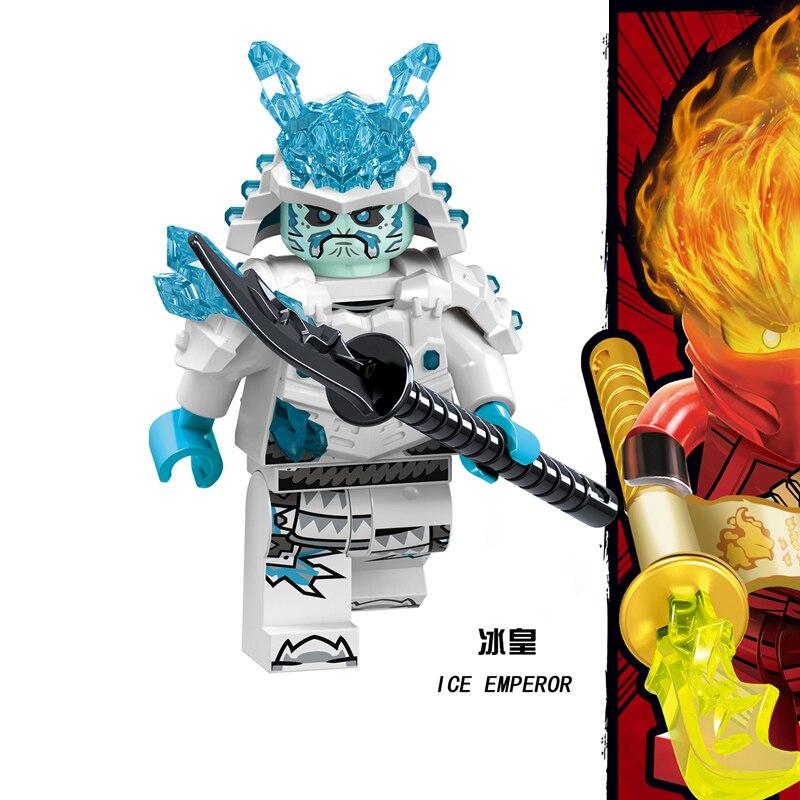 1 шт. ниндзя Кай Джей Коул Зейн Ллойд Нья Мини фигурки Строительные блоки Детская игрушка подарок Совместимость с legoingly ninjagoo для детей - Цвет: RZGA128