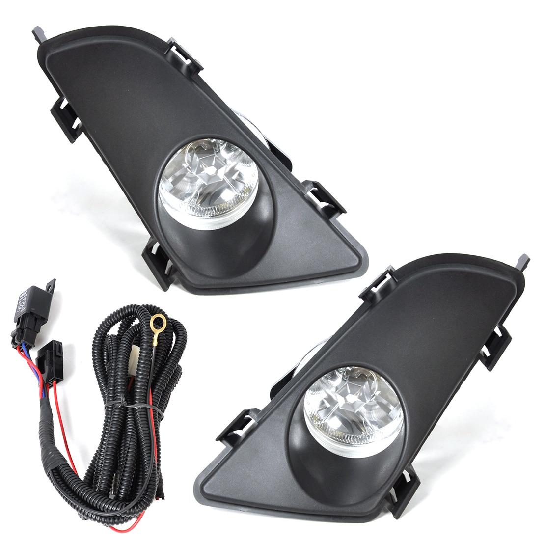 beler Car Lighting Front Right Left Clear Fog Lights Lamp Lens w/Wiring Kit 12V 55W for Mazda 6 2003 2004 2005 fog light set 12v 55w car fog lights lamp for toyota hiace 2014 on clear lens wiring kit free shipping
