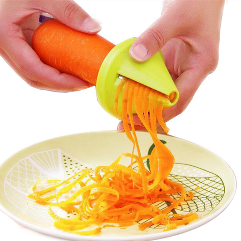 Funnel Model Spiral Slicer Vegetable Shred Carrot Radish Cutter Shredded Device screw grater wheel sharpener Cookware Parts