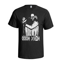 Men T Shirt 2017 Summer 100 Cotton Randy Savage Macho Man Oooh Yeah Wrestling Mens Fit