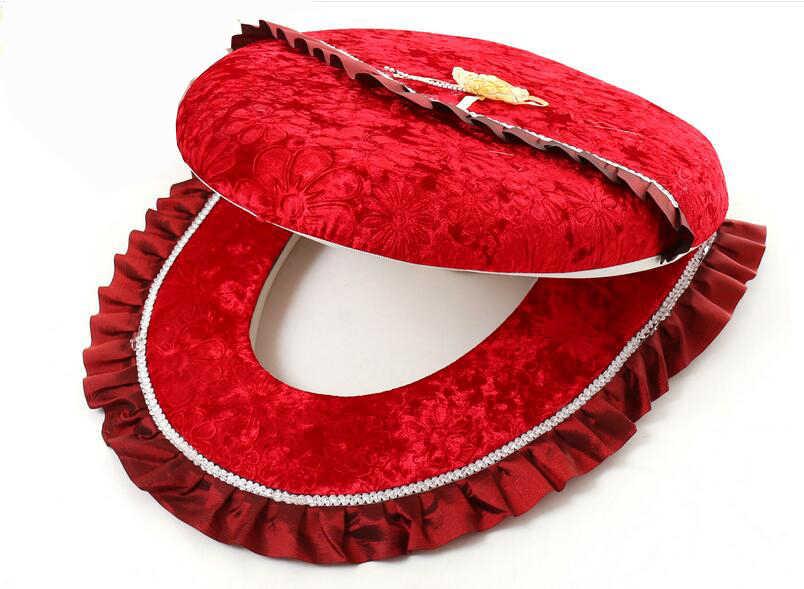 Чехол для унитаза Fyjafon, утепленный мягкий удобный чехол для унитаза