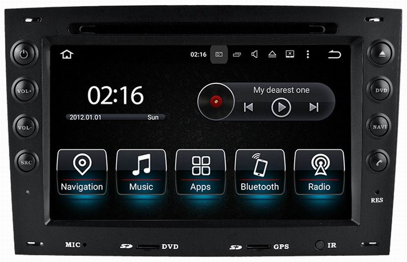 for renault megane ii 2 2003 2010 android 5 1 autoradio car radio tape recorder stereo dvd gps. Black Bedroom Furniture Sets. Home Design Ideas