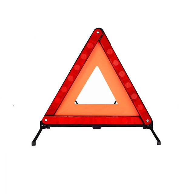 Reflective Triangle Car Safety Warning Emergency Road Signs Flasher