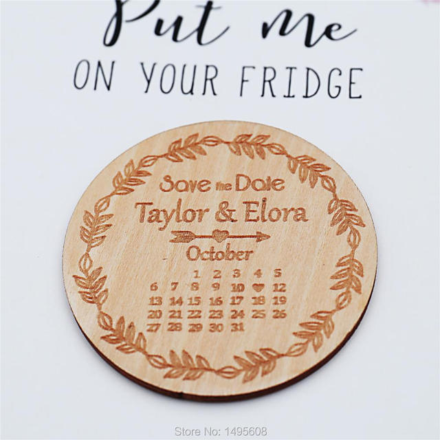 Wedding Save The Date Magnets Calendar Magnet Set Personalized Invitation