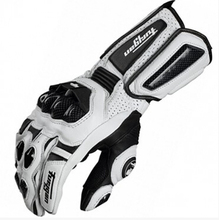 Trasporto libero afs10 guanti da moto da corsa su strada ciclismo guanto guanti di cuoio Genuini guanti di Carbonio