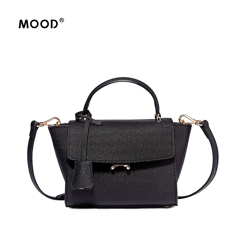 MOOD women leather handbag wings new fashion female package personality inclined bag one shoulder handbags free shipping fashion women handbags genuine leather shoulder bag solid multi color female handbag with free shipping
