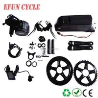 High power 8Fun/Bafang BBS02 36V 500W mid drive motor kits with 36V 17Ah USB down tube battery for fat tire bike/city bike