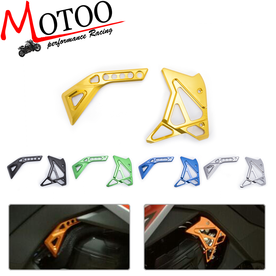 Motoo - CNC Aluminum Frame Fuel Injection Injector Cover Protector Guard For KAWASAKI Z1000 2014-2016 14 15 16 new fuel injector 0432191629 3928384 fit for c8 3l 6ct 6cta