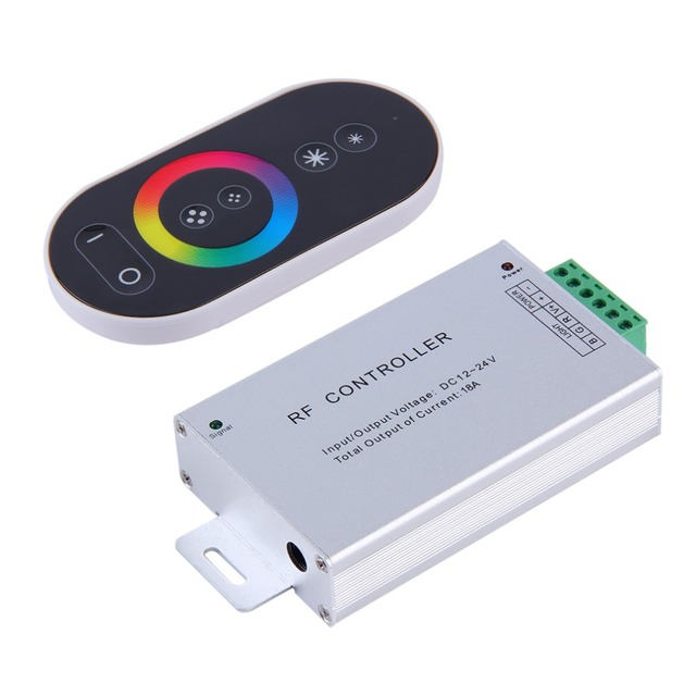 New Useful 6-Key RGB DC 12-24V Touch Panel Aluminum Wireless LED RF Remote Controller