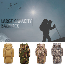 65L Large Capacity Outdoor Mountaineering Backpack Water-repellent Camping Hiking Military Tactical Shoulder Bag