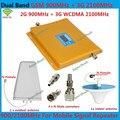 Горячая ЖК GSM 3 Г Сотовый Сигнал Повторителя GSM 900 3 Г UMTS 2100 Dual Band Сотовый Телефон Усилитель 900 мГц 2100 мГц 20dBm Мобильный ускорители